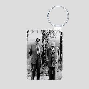 Kurchatov and Ioffe, Sovie Aluminum Photo Keychain