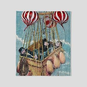 Zenith balloon ascent, 1875 Throw Blanket