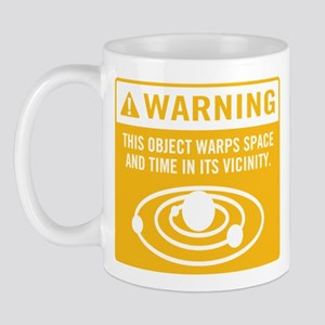 object warps space and time in its vicinity Mug