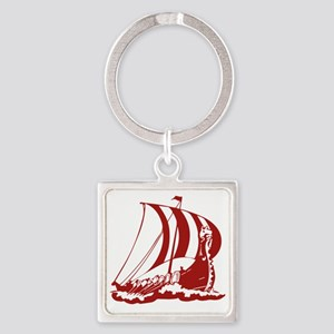 norseShip1A Square Keychain