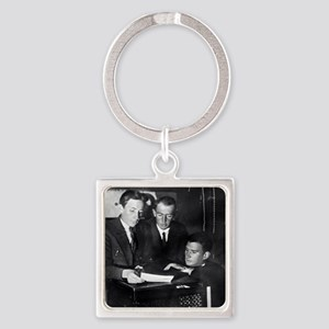 Kurchatov and colleagues, Leningra Square Keychain
