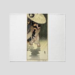 Honorable Mr Cat - Helen Hyde - 1903 Throw Blanket