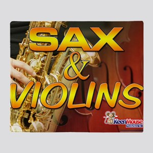 Sax and Violins Calendar Cover Throw Blanket