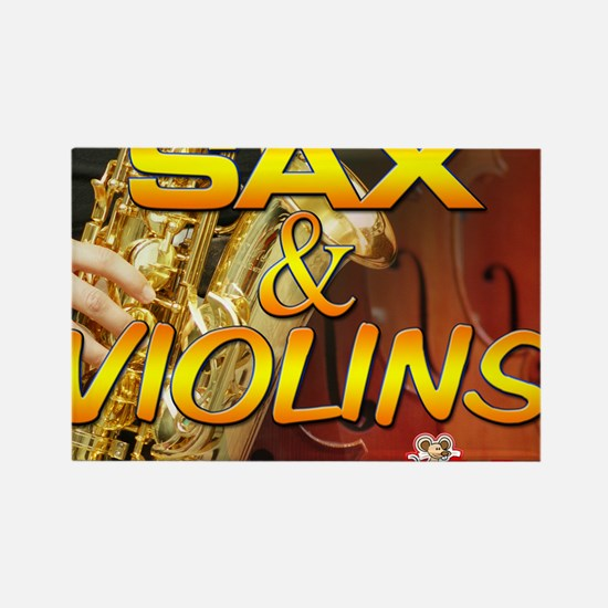 Sax and Violins Calendar Cover Rectangle Magnet