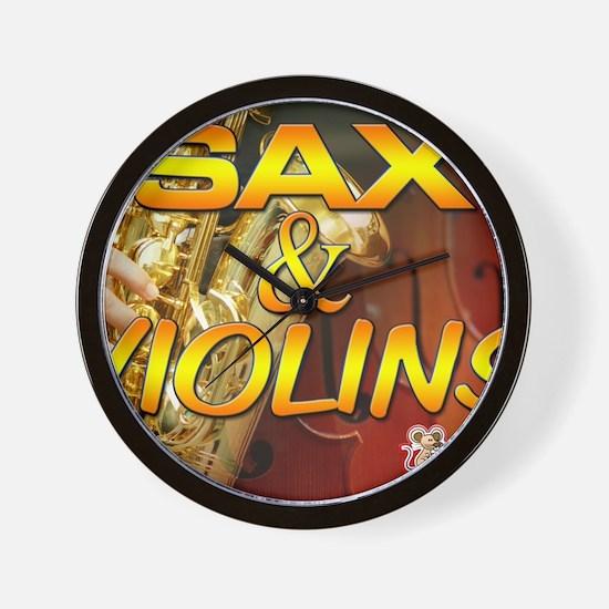 Sax and Violins Calendar Cover Wall Clock