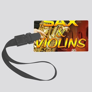 Sax and Violins Calendar Cover Large Luggage Tag