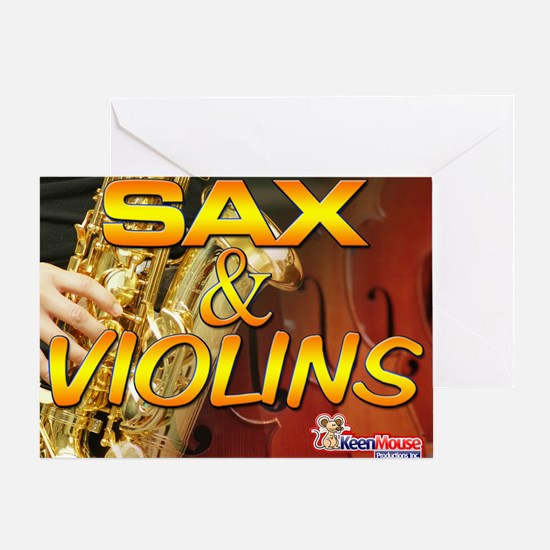 Sax and Violins Calendar Cover Greeting Card