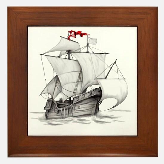 Pirate Ship Framed Tile