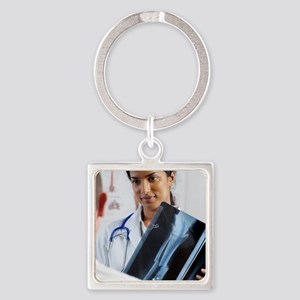 Lower leg fracture Square Keychain