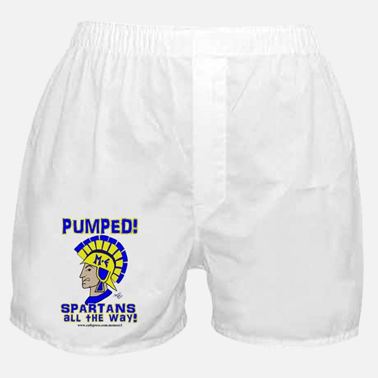 PUMPED SPARTANS ALL THE WAY! Boxer Shorts