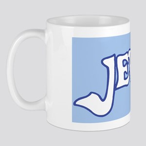 JewishMousepadWhiteOnLtBlue Mug