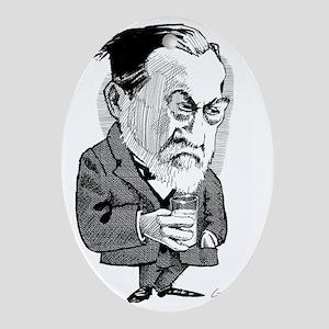 Louis Pasteur, caricature Oval Ornament