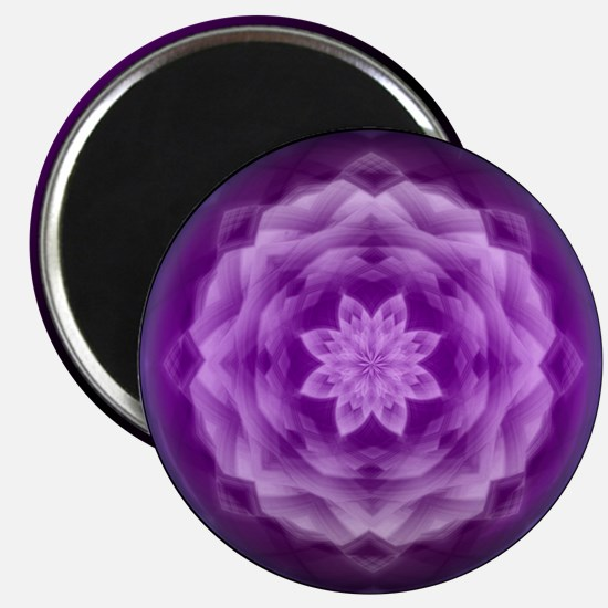 Purple Crystal Flower Magnet