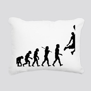 Basketball Evolution Jum Rectangular Canvas Pillow