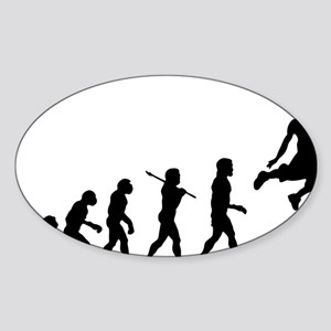 Basketball Evolution Jump Sticker (Oval)