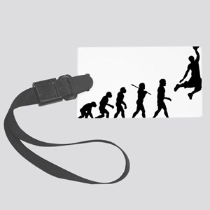 Basketball Evolution Jump Large Luggage Tag