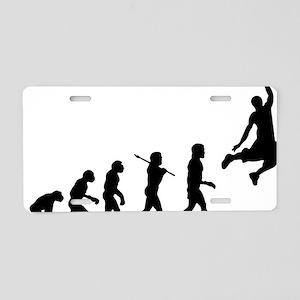 Basketball Evolution Jump Aluminum License Plate