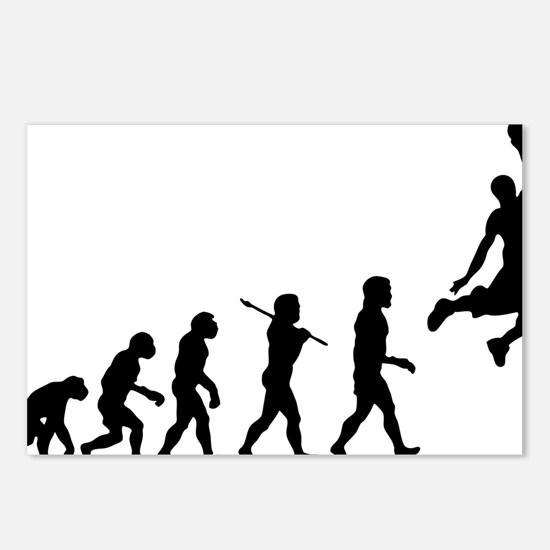 Basketball Evolution Jump Postcards (Package of 8)