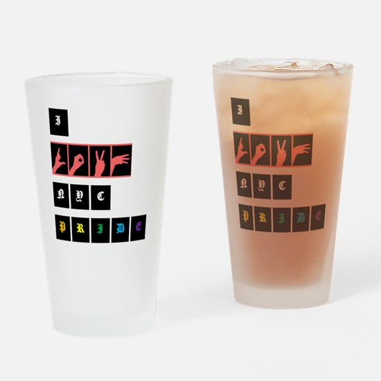 iLUV.NYC.PRIDE Drinking Glass