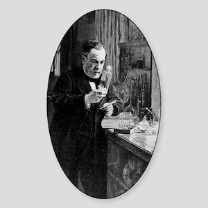 Louis Pasteur Sticker (Oval)