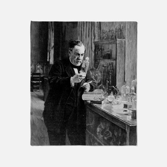 Louis Pasteur Throw Blanket