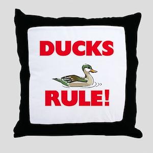 Ducks Rule! Throw Pillow