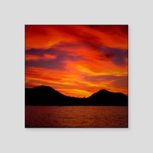 "Cabo Sunset Square Sticker 3"" x 3"""