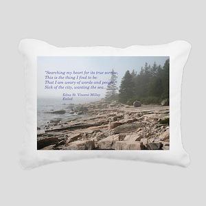 Edna St. Vincent Millet Rectangular Canvas Pillow
