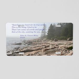 Edna St. Vincent Millet Aluminum License Plate