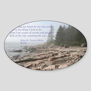 Edna St. Vincent Millet Sticker (Oval)