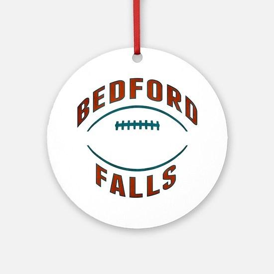 Bedford Falls Football Round Ornament