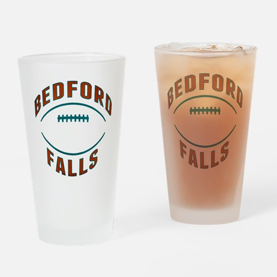 Bedford Falls Football Drinking Glass