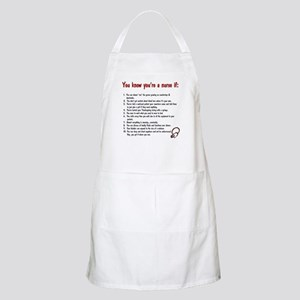 You're A Nurse If... BBQ Apron