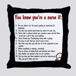 You're A Nurse If... Throw Pillow