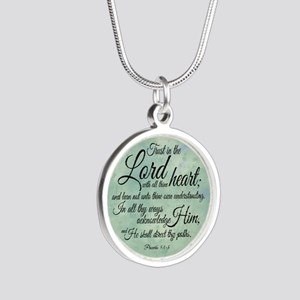 Trust  in the Lord Silver Round Necklace