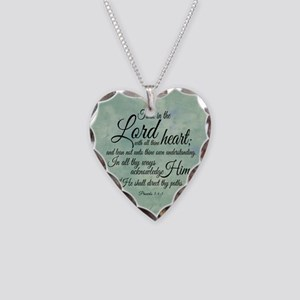 Trust  in the Lord Necklace Heart Charm