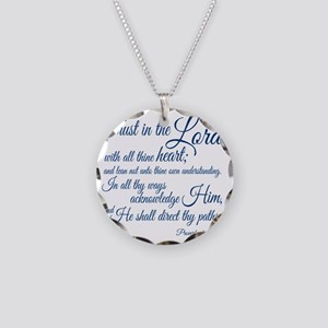 Trust  in the Lord Necklace Circle Charm