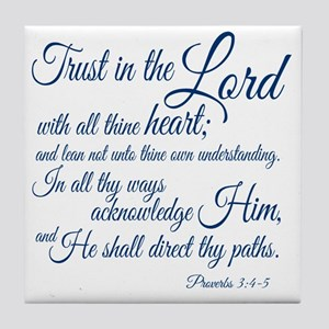 Trust  in the Lord Tile Coaster