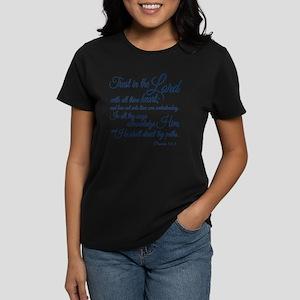Trust  in the Lord Women's Dark T-Shirt
