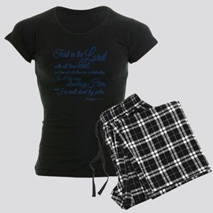 Trust  in the Lord Women's Dark Pajamas