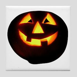 happy halloween pumpkins skull jack o Tile Coaster