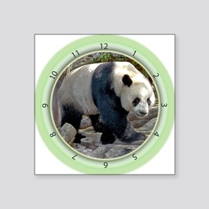"Panda Strut Square Sticker 3"" x 3"""