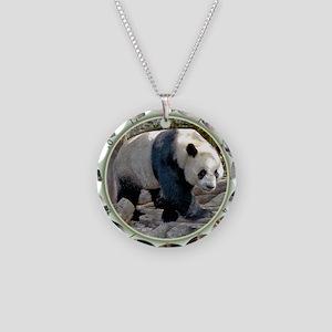 Panda Strut Necklace Circle Charm