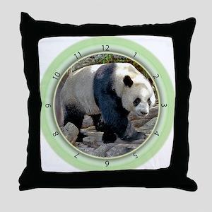 Panda Strut Throw Pillow
