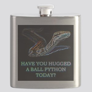 Have you hugged a ball python today? Flask