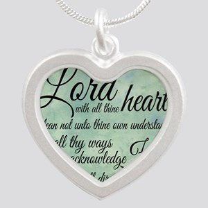 Trust  in the Lord Silver Heart Necklace