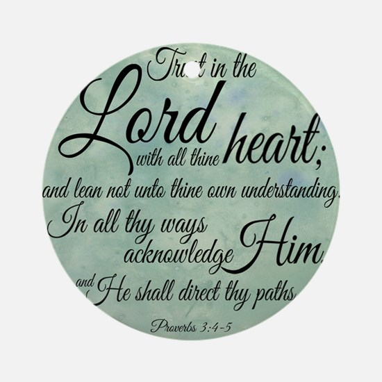 Trust  in the Lord Round Ornament