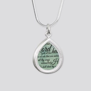 Trust  in the Lord Silver Teardrop Necklace