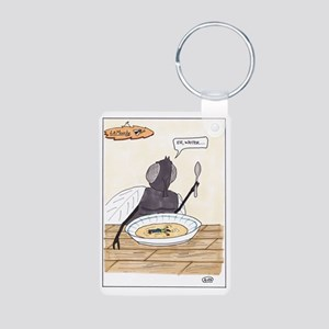 Man in the Soup Aluminum Photo Keychain