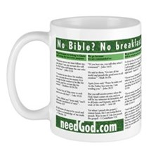 no Bible no breakfast Mug